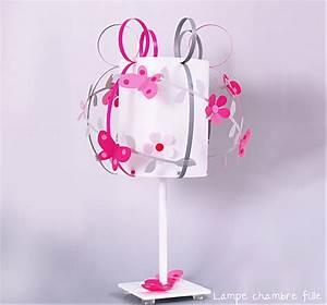 Lampe Chambre Fille : lampe de chevet grise rose parme slections de lampes fille ~ Preciouscoupons.com Idées de Décoration