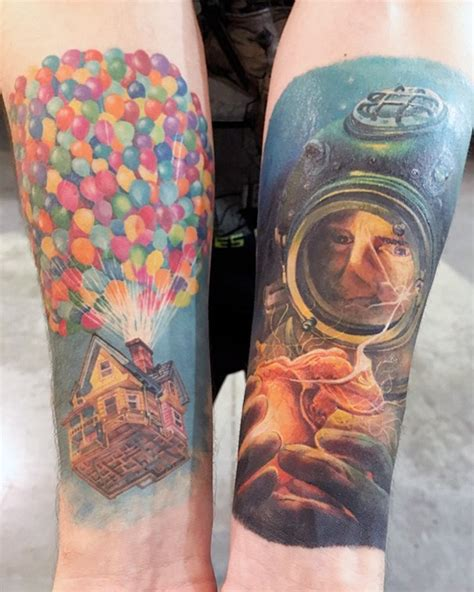 pixar inspired tattoo ideas       inked nerdism