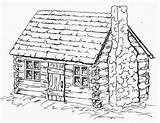 Cabin Coloring Log Pages Drawing Cabins Sheets Draw Adult Printable Colonial Drawings Colouring Sketches Simple Houses Wood Logs Pencil Bing sketch template