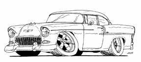 55 chevy bel air cartoon chevy39s 55 57 pinterest bel With 1955 chevy bel air
