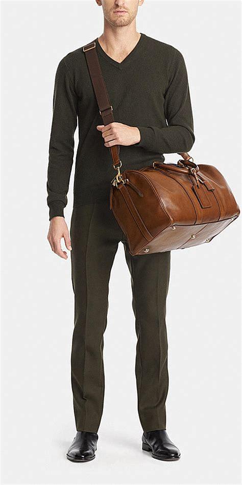 coach mens travel bleecker duffle  leather