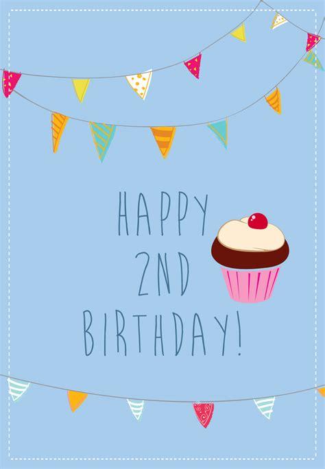 Birthday Card Image 2 by 2nd Birthday Cupcake Free Birthday Card Greetings Island