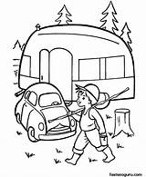 Camping Camper Coloring Pages Printable Caravan Printables Sheets Rv Cars Trailer Fishin Goin Embroidery Sheet Adult Preschool Theme Colouring Fastseoguru sketch template