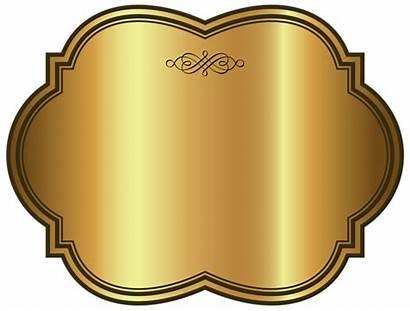 Label Template Golden Luxury Clipart Labels Templates
