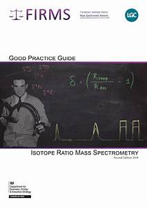 Pdf  Good Practice Guide For Isotope Ratio Mass