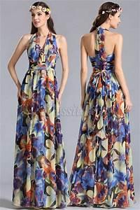 edressit robe longue d39ete transformable a imprime floral With robe longue d été femme