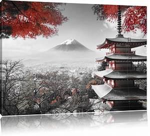 Herbst Schwarz Weiß : japanischer tempel im herbst schwarz wei leinwandbild leinwandbilder ~ Orissabook.com Haus und Dekorationen