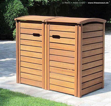 mülltonnenbox holz 3 tonnen 2er 3er m 252 lltonnenbox classic f 252 r 120 liter 240 liter