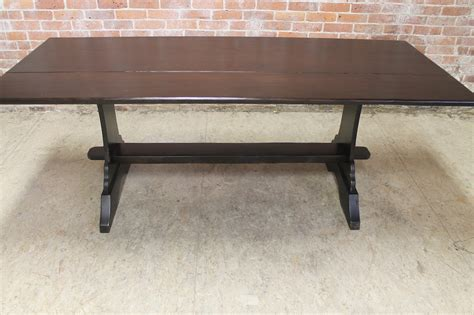 Drop Leaf Farm Table with Trestle   ECustomFinishes