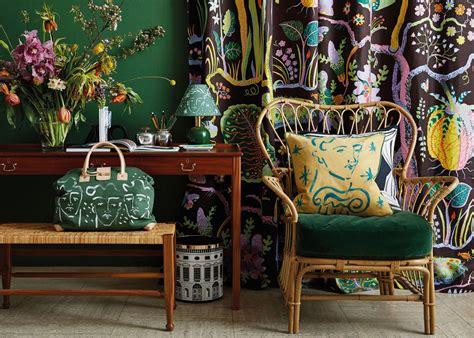 british designer luke edward hall combines decor  fashion influences   colourful work