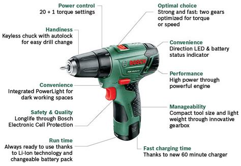 bosch psr 10 8 li bosch psr 10 8 li 2 cordless lithium ion drill driver with 1 x 10 8 v battery 1 3 ah
