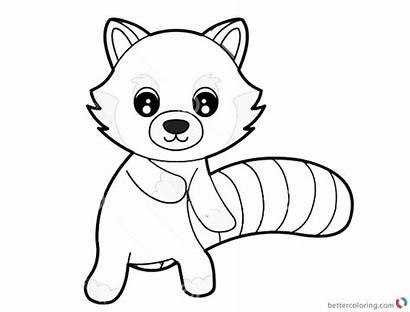 Panda Coloring Pages Sheet Cartoon Printable Cartoons