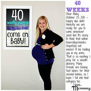 40 Weeks Baby Belly Diagram