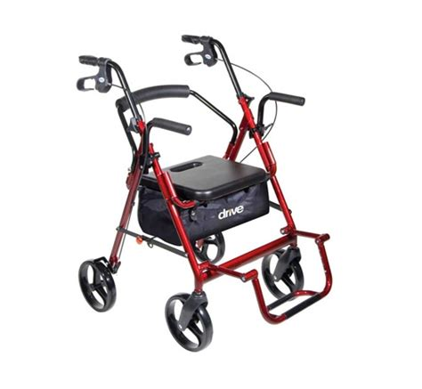 rollator transport chair duet rollator transport chair combo with 8 inch casters by