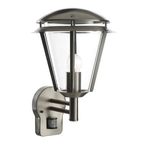 saxby inova pir outdoor wall automatic light brushed