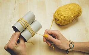 Cómo hacer pompones de lana Bricolaje10