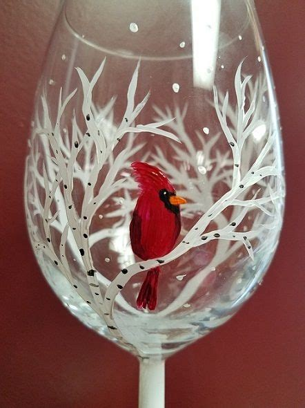 painted wine glasses ideas  pinterest hand