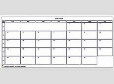 Juin 2018 calendrier imprimer Printable 2018 calendar