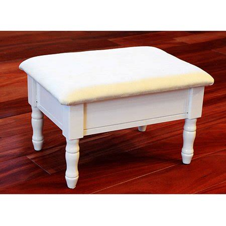 Padded Footstool With Storage by Home Craft Footstool With Storage Colors