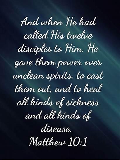 Bible Unclean Verses Spirits Matthew Scripture Healing