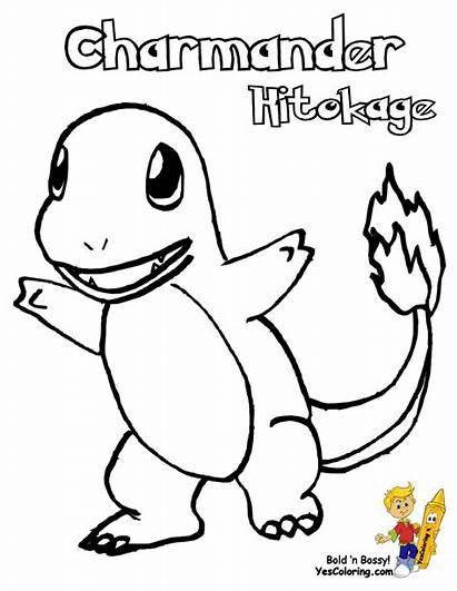 Pokemon Charmander Coloring Pages Starter Piplup Printable