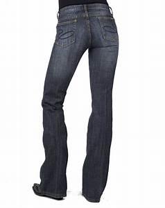 Stetson Womenu0026#39;s 816 Stretch Denim Classic Boot Cut Jeans - Dark Wash