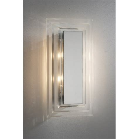 cutler modern chrome and glass wall panel light
