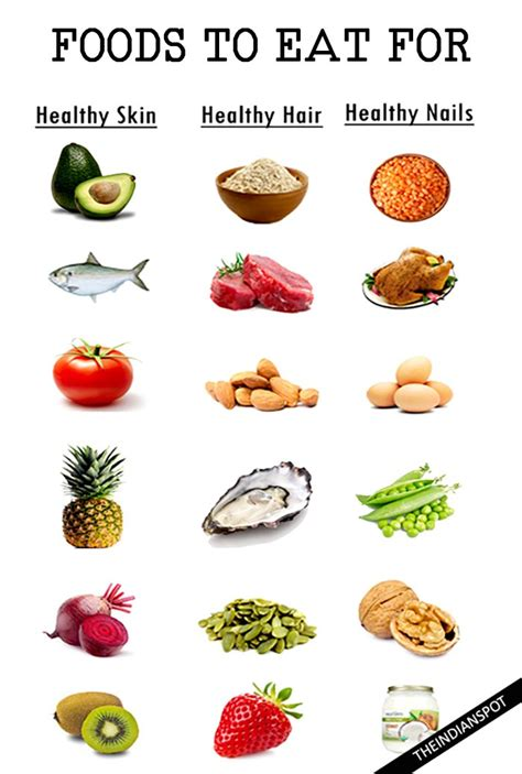 Healthy Food Kitchen Hair by Foods To Eat For Healthy Skin Hair And Nails