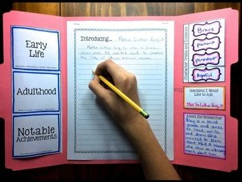 biography reports informational writing  lapbook