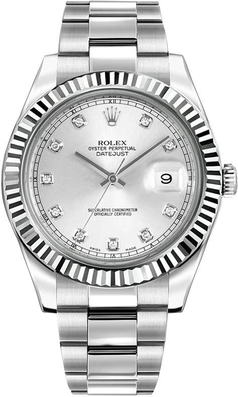 Buy Rolex Datejust II 116334 Silver Diamond Dial Men's Watch