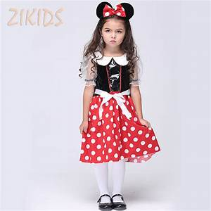Christmas Minnie Mouse Role play Costume For Girls ...