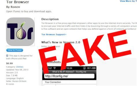 Fake Tor Browser App For Ios Full Of Adware, Spyware