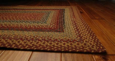 Homespice Four In Nine Patch Cotton Braided Area Rug
