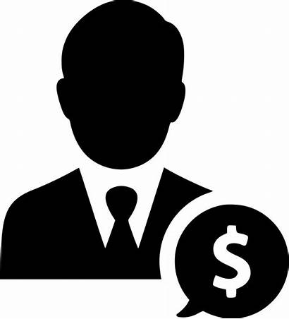 Salesman Icon Earnings Businessman Svg Income Clipart