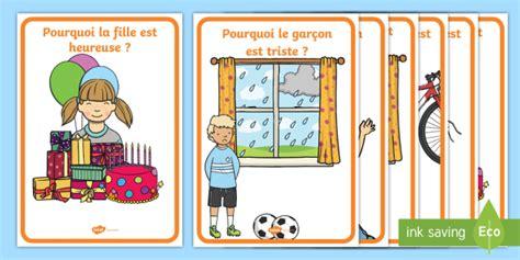 * New * Cartes Pour Jeu De Questions  Les émotions  Cartes, Questions