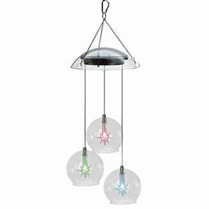 Solar garden light wind chimes hanging lamp
