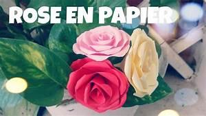 Comment Faire Une étoile En Papier : comment faire une rose en papier tres facile youtube ~ Nature-et-papiers.com Idées de Décoration