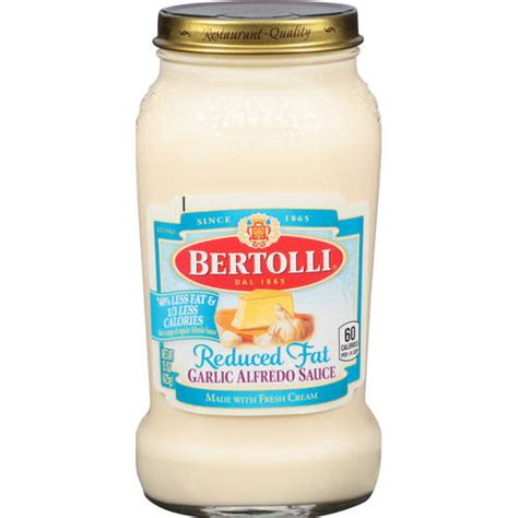 light alfredo sauce bertolli sauce light garlic alfredo sauce 15 oz