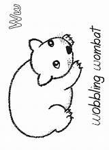 Wombat Coloring Animals Activities Crafts Stew Printable Australia Preschool Starting Craft Sheet Google sketch template