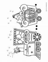 Circus Coloring Train Pages Printable Trains Preschool Crafts Craft Template Printables Planes Birthday Carnival Cars Theme Automobiles Animal Activities Vbs sketch template