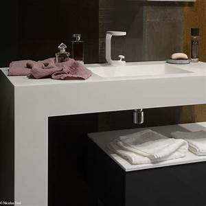 lavabo design elle decoration With salle de bain design avec vente de lavabo