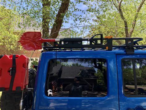 smittybilt  heavy duty axe  shovel mounting bracket  defender roof rack quadratec