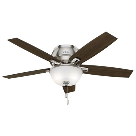 low profile ceiling fan led hunter donegan 52 in led indoor low profile brushed