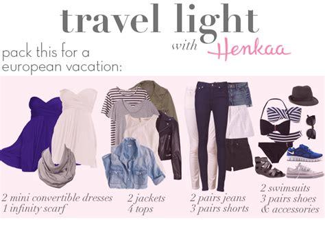 packing light for travel travel light henkaa blog