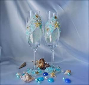 beach wedding toasting flutes starfish wedding glasses With destination wedding bridal shower ideas