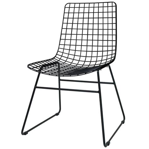 chaise métallique hk living dining chair dining wire black metal 47x54x86cm