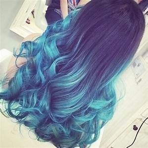 Blue Ombre Hair ♥ | via Tumblr - image #2205157 by ...