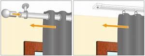 Barre Rideau Fixation Plafond : poser une tringle au plafond rideaux ~ Premium-room.com Idées de Décoration