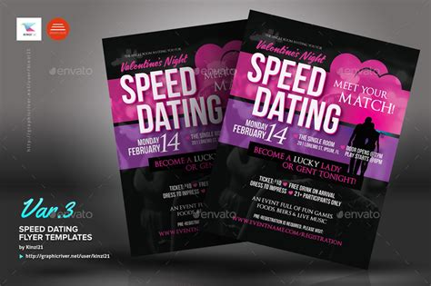 speed dating flyer templates  kinzi graphicriver