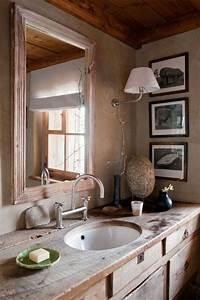 salle de bain design rustique un havre d39harmonie With salle de bain design avec evier rustique